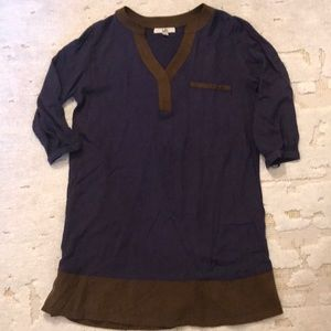 Navy Dress! Great for Fall!
